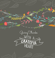 Happy Thanksgiving greeting card Floral vector image vector image