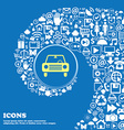 car icon Nice set of beautiful icons twisted vector image