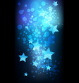 abstract stars on dark background vector image