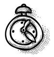 cartoon image of clock icon time symbol vector image