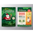 Christmas sale Brochure Flyer design Layout vector image