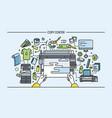 concept of copy center print shop publishing vector image