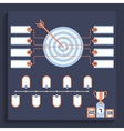 Darts game rules Target with multicolor banners vector image