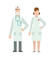 Doctors silhouette isolated vector image
