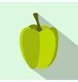 Green pepper icon in flat style vector image