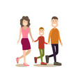 happy family in flat style vector image