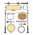 Iron Signage set vector image