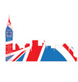 isolated cityscape of london vector image