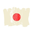 Japan flag painted by brush hand paints vector image