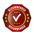 recommended red badge vector image