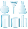 Science equipments vector image