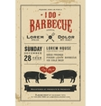 Vintage I Do Barbecue wedding invitation card vector image
