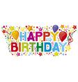 Happy birthday party vector image vector image