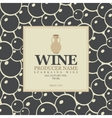 wine label with a clay jug vector image