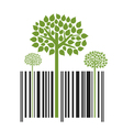 Nature Trees Bar Code vector image vector image