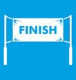 finish line gates icon white vector image