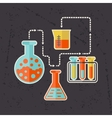 Science concept in flat design style vector image