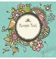 Floral doodle frame with space for text vector image