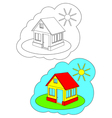 Color-in Home vector image vector image