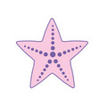 beauty starfish animal that live in the sea vector image