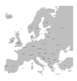 Europe map with names of sovereign countries vector image