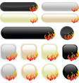 flame banner elements vector image