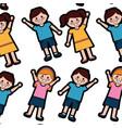 happy kids children pattern imag vector image