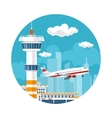 Icon Plane Takes Off from the Airport vector image