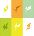 Leaf Set of elegant design elements vector image