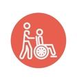 Nursing care thin line icon vector image
