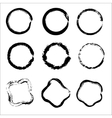 Set of Hand Drawn Scribble Circles design vector image