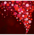 red lights background vector image vector image