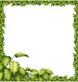 A green frame vector image