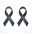 Black Ribbon Mourning and Melanoma Sign Set vector image