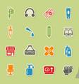 tattoo salon icon set vector image