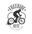 freeride best bike extreme vintage label black vector image