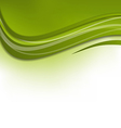Green wawy background design template vector image