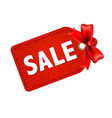 Sale Tag With Red Ribbon vector image