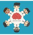 Businessman brainstorm eps10 format vector image