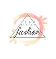 fashion logo design badge for clothes boutique vector image