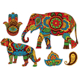 Indian patterns for design vector image