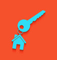 key with keychain as an house sign vector image