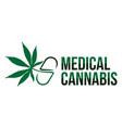 medical cannabis vector image