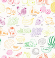 Seamless pattern with fruit on a white background vector image