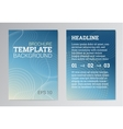 Set of Poster Brochure Design Templates in blue vector image