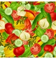 Vegetables seamless background vector image
