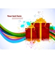 Bright background with box vector image vector image