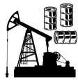Oil barrel graph with red arrow pointing down vector image vector image
