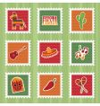 Mexican stamps vector image vector image