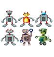 Six robots vector image vector image